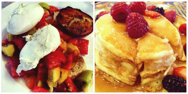 Cora's bruschetta / Daddy's pancakes
